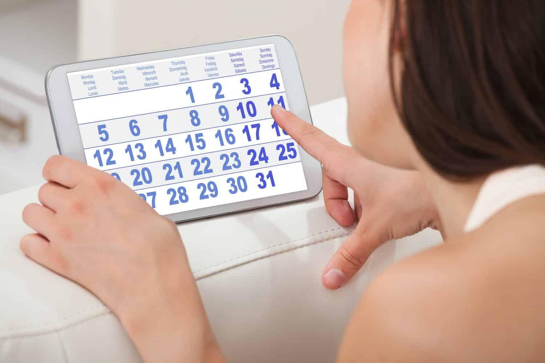 cycle menstruel calendrier